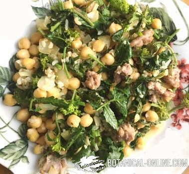 garbanzos arroz carne verdura