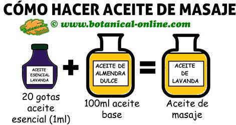 como hacer aceite de masaje