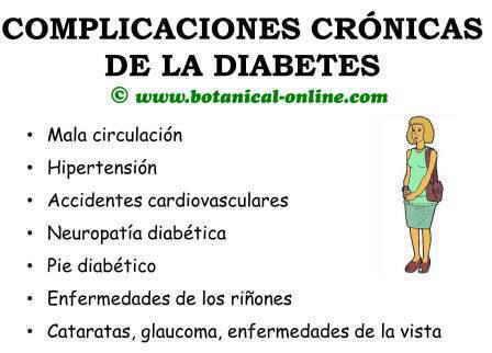 complicaciones crónicas de la diabetes, glaucoma, retinopatía, cataratas