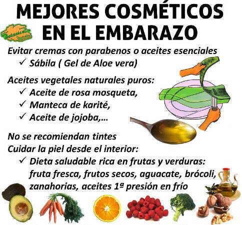 cremas y cosmeticos naturales recomendados en el embarazo