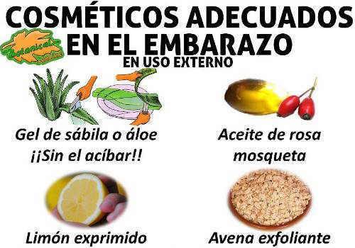 cremas y cosmeticos naturales recomendados en el embarazo con plantas y aceites