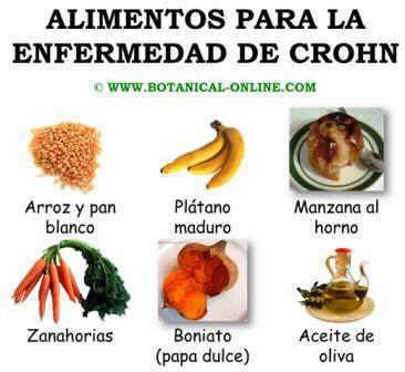 Alimentos recomendados para la enfermedad de Crohn