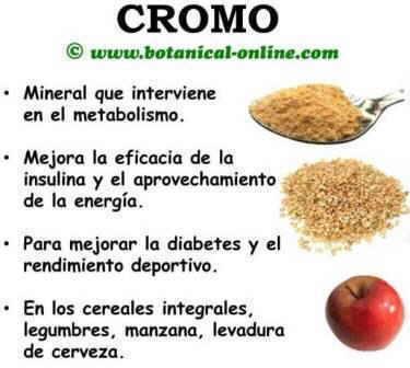 beneficios y propiedades del cromo