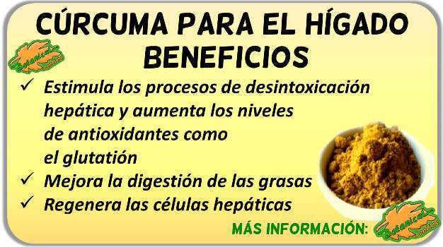 beneficios de la curcuma para enfermedades del higado