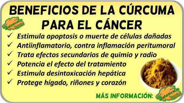 curcuma propiedades beneficios tratamiento natural remedios cancer