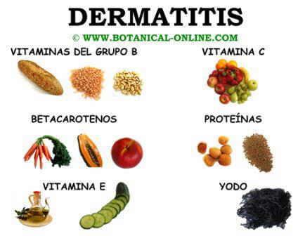 Alimentos para la dermatitis, dieta para la dermatitis