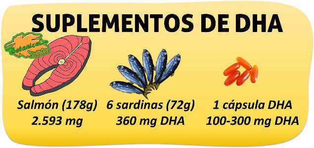alimentos suplementos omega 3 dha