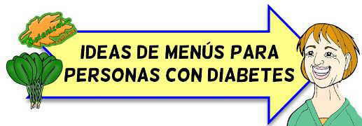 ejemplos menu diabetes