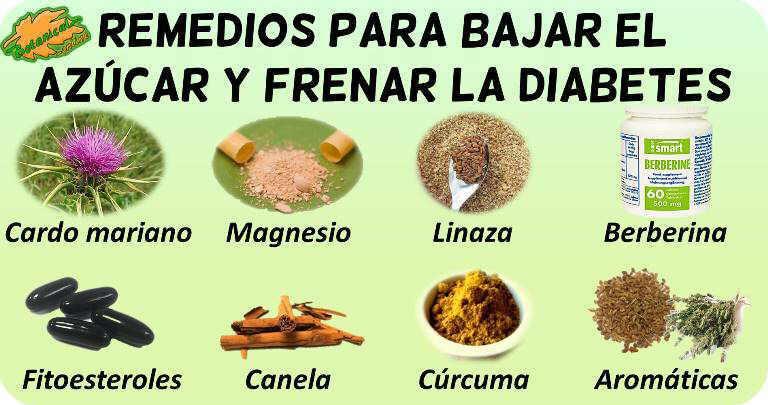 remedios para bajar el azucar y frenar la diabetes