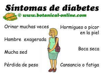 síntomas que indican diabetes