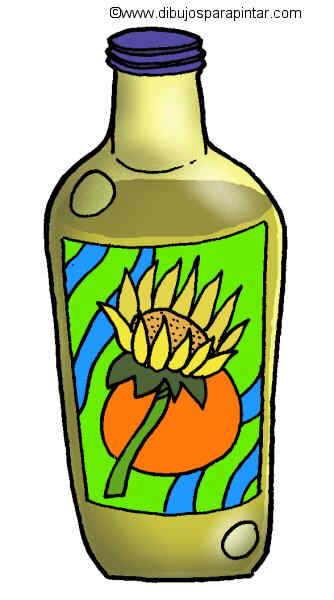 Dibujo grande de aceite de girasol