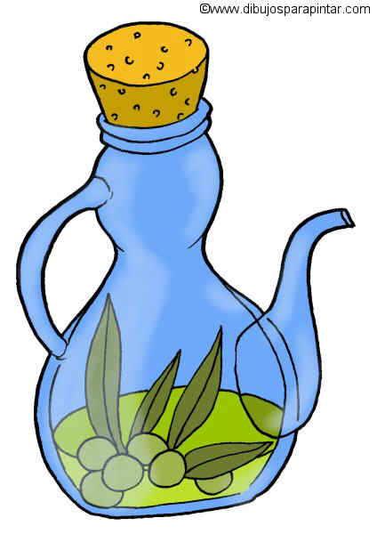 Dibujo grande de aceite de oliva