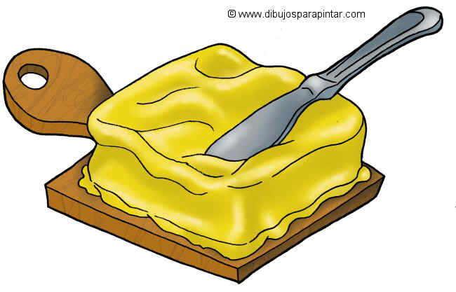 dibujo grande de mantequilla