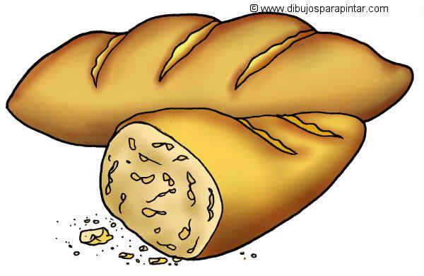 dibujo grande de pan