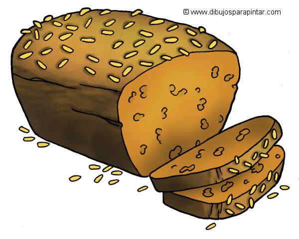 dibujo grande de pan integral