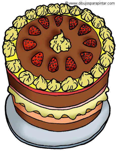 dibujo grande de pastel