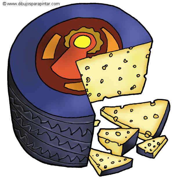 dibujo grande de pinchitos de queso