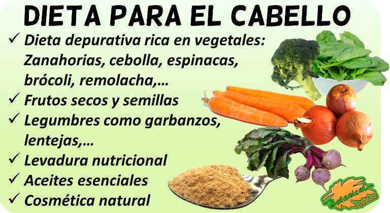 dieta cabello alimentos recomendados