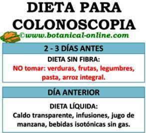 dieta preparacion de colonoscopia