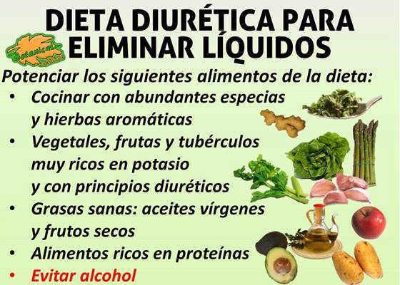dieta para la retencion de liquidos diuretica desintoxicante o detox