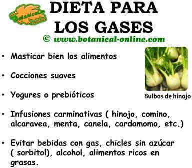 dieta para los gases