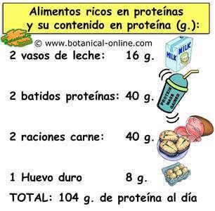 calculo proteina dieta hiperproteica con sobres de proteina