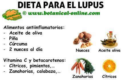 dieta para el lupus, alimentos