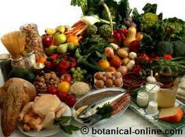 Foods of the Mediterranean diet.
