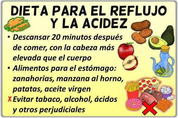 Dieta Para El Reflujo Y Acidez De Estómago Botanical Online
