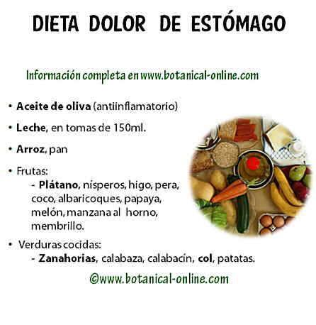 comidas de dieta para cuando estas mal del estomago