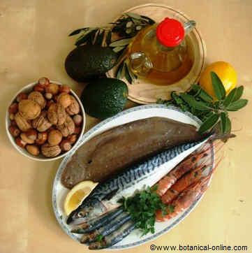 fuentes de grasas en la dieta mediterránea