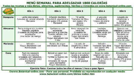 Dieta saludable para perder peso en un mes