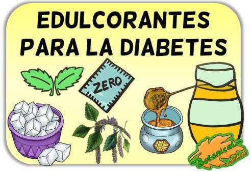 edulcorantes diabetes tipo 1 y 2