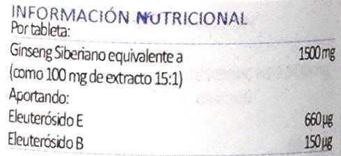 etiqueta extracto ginseng eleuterococo lamberts
