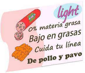 etiqueta embutidos grasas light