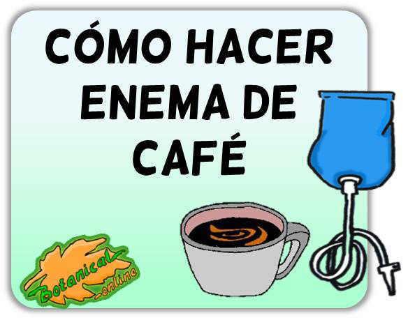 cuánto café usar para el enema