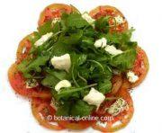 ensalada de tomate rucula y queso
