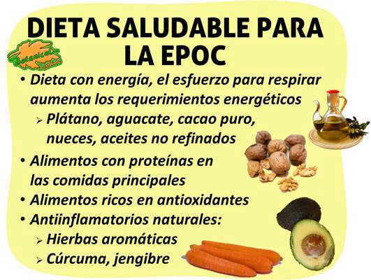 dieta alimentos para bronquitis cronica EPOC enfermedad pulmonar obstructiva cronica