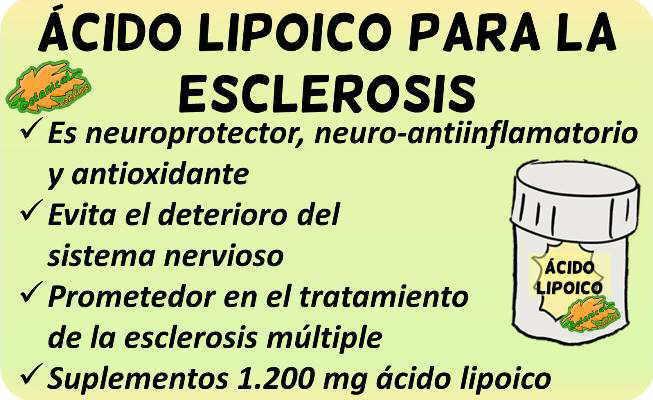 propiedades medicinales y beneficios suplemento acido lipoico para la esclerosis múltiple