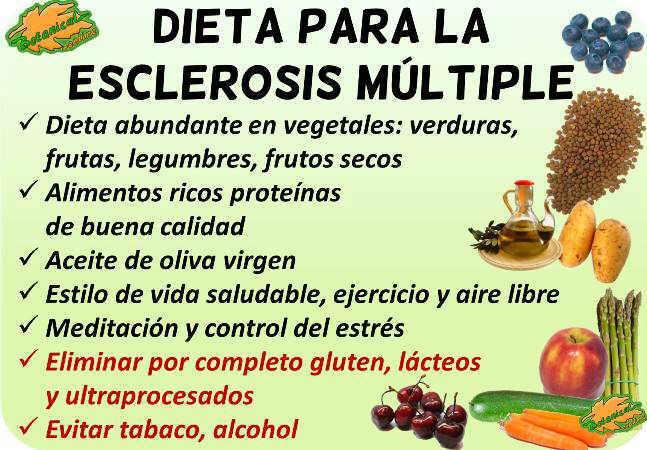 dieta para la esclerosis multiple dietoterapia alimentacion alimentos recomendados