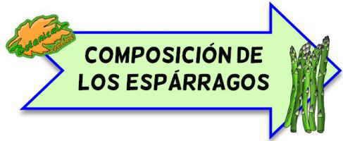 composicion de los esparragos