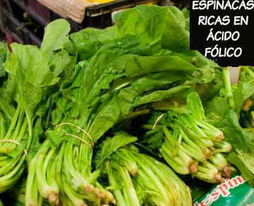 spinach in a market