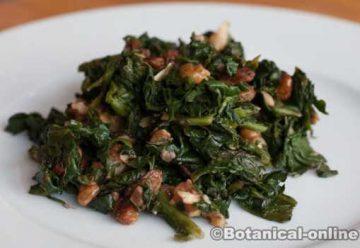 receta espinacas nueces y pasas