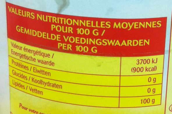 Etiqueta incorrecta aceite