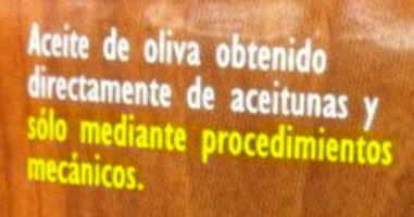 etiqueta aceite Especifica que no es un aceite adecuado para freír