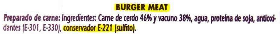 etiqueta burger meat carne picada o haburguesa