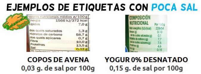 ejemplo etiqueta mucha sal sodio