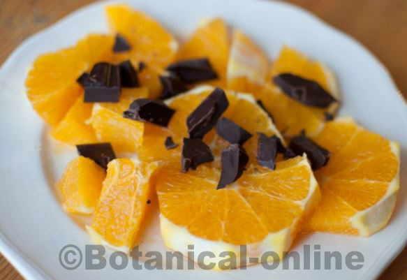 fruta seca con chocolate
