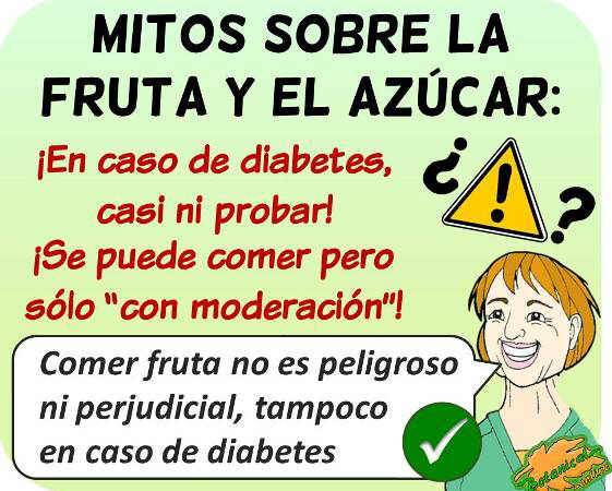 mitos fruta diabetes