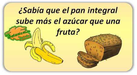 fruta para la diabetes platano pan integral